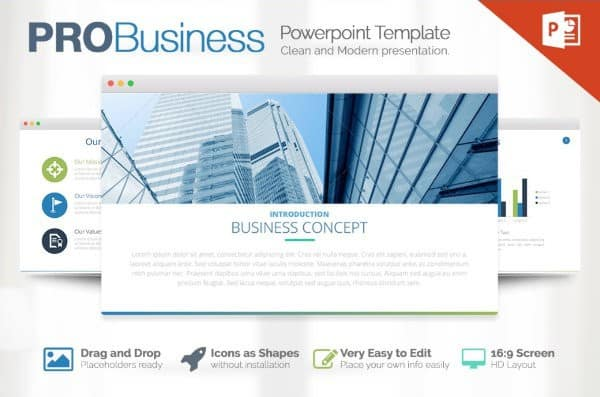 Free Business Presentation Powerpoint Template - Hooed.Com