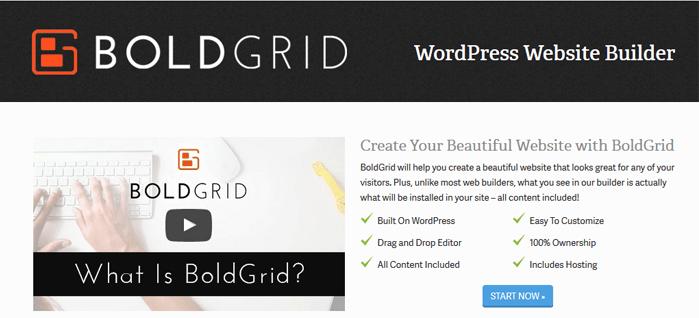 BoldGrid – Free Website Builder On WordPress - hooed com
