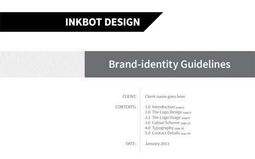 Free Brand Guidelines Template - hooed com